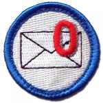 The nerd merit badge for Inbox Zero, from nerdmeritbadges.com.