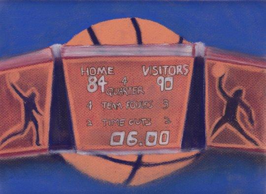 Basketball scoreboard jumbotron